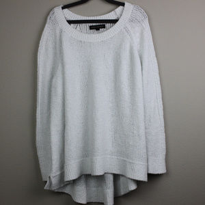 Banana Republic White Nubby Sweater size Medium
